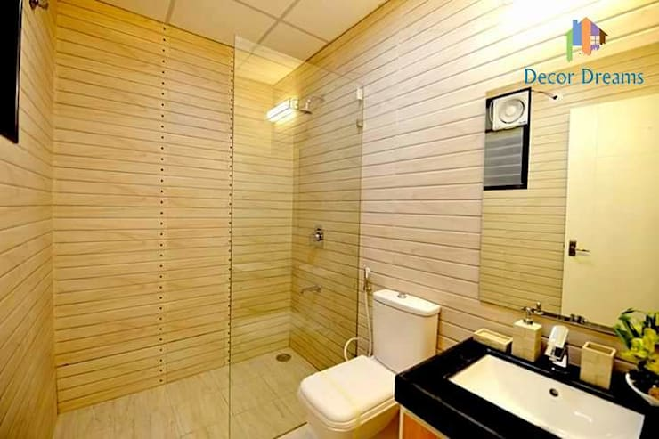 Independent Bungalow - Mr. Modi:  Bathroom by DECOR DREAMS