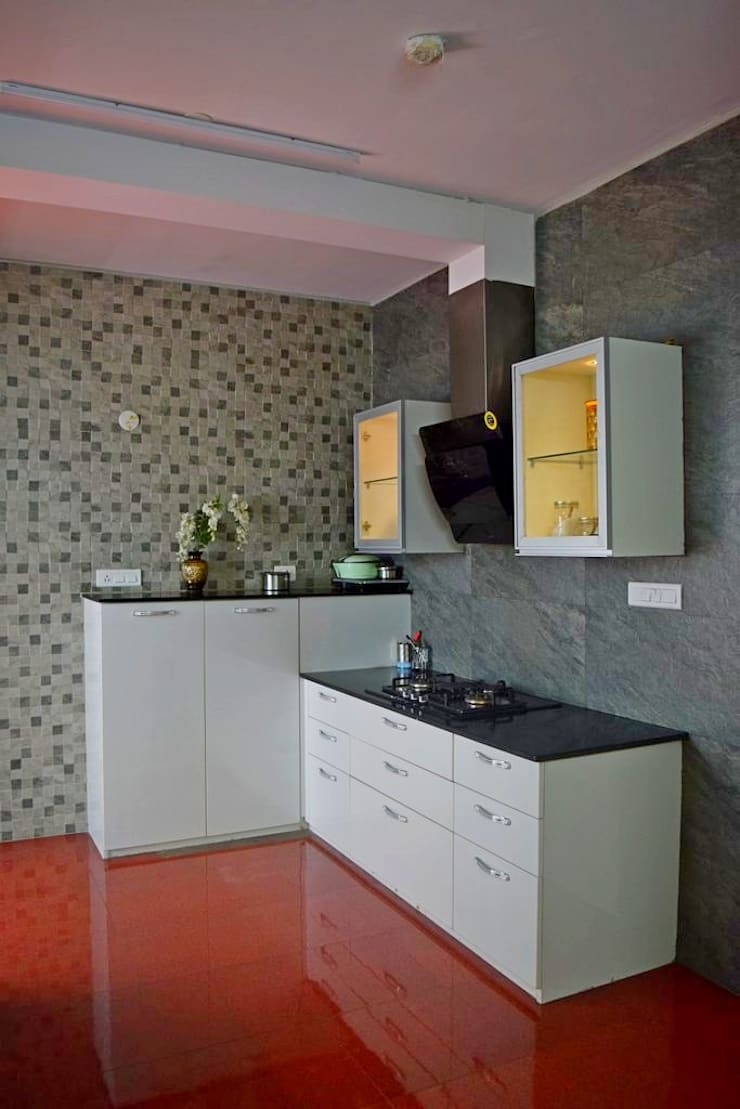 L&T South city, 3 BHK—Mr. Sundaresh:  Built-in kitchens by DECOR DREAMS