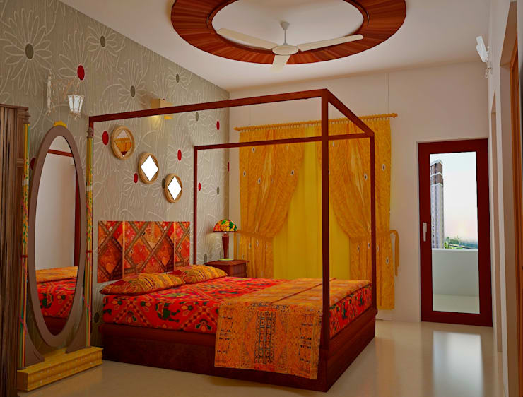 SJR Watermark, 3 BHK - Mr. Ankit:  Bedroom by DECOR DREAMS