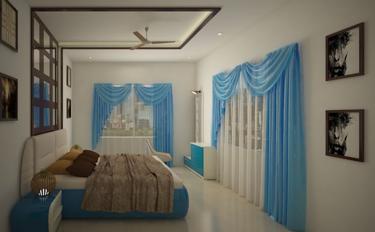 SJR Watermark, 3 BHK - Mr. Ankit: modern Bedroom by DECOR DREAMS