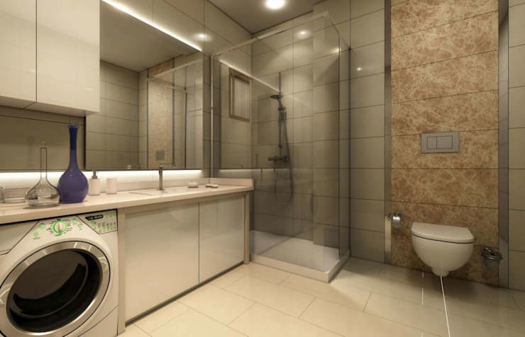 VERO CONCEPT MİMARLIK – Altındağ Prestij-1 Konutları:  tarz Banyo