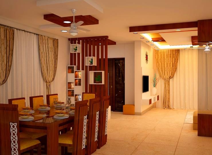 JR Greenwich Villas, Sarjapur Road - Ms. Natasha:  Dining room by DECOR DREAMS