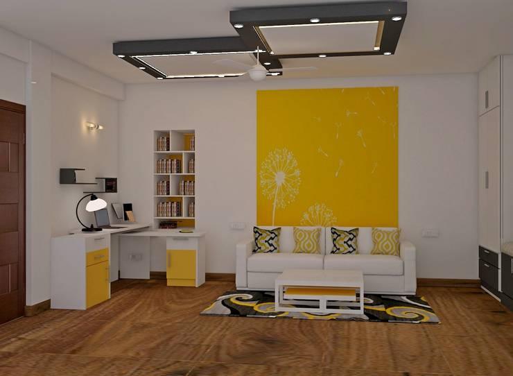JR Greenwich Villas, Sarjapur Road - Ms. Natasha: eclectic Study/office by DECOR DREAMS
