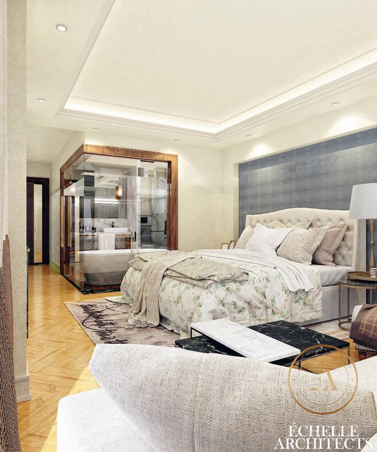 Master Bedroom:   تنفيذ Echelle Architects,