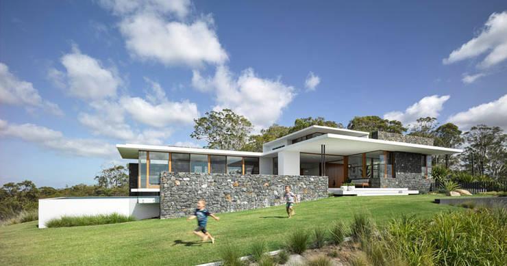 Casa de Campo 02: Casas de campo de estilo  por Eckostudio Horter S.A. de C.V.