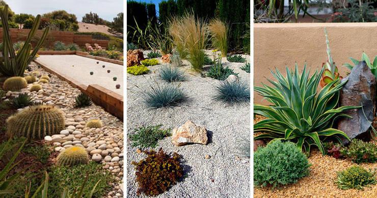 Jardin 04: Jardines de piedra de estilo  por Eckostudio Horter S.A. de C.V.