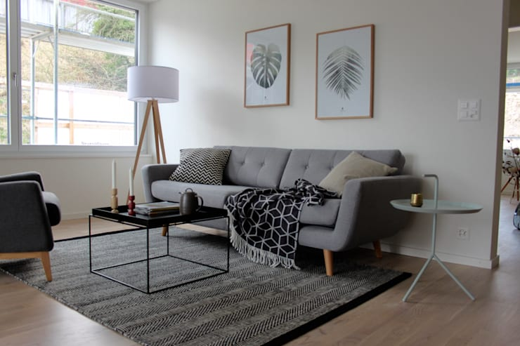 Phòng khách by Home Staging Nordisch