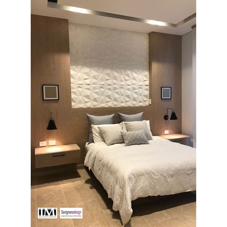 Diseño interior apartamento de soltero: Habitaciones de estilo  por ecoexteriores