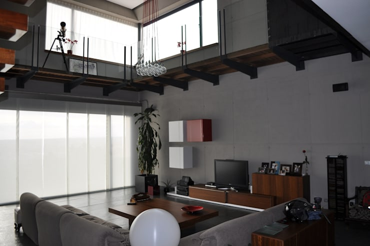 Salas de estilo  por URBAQ arquitectos s.l.
