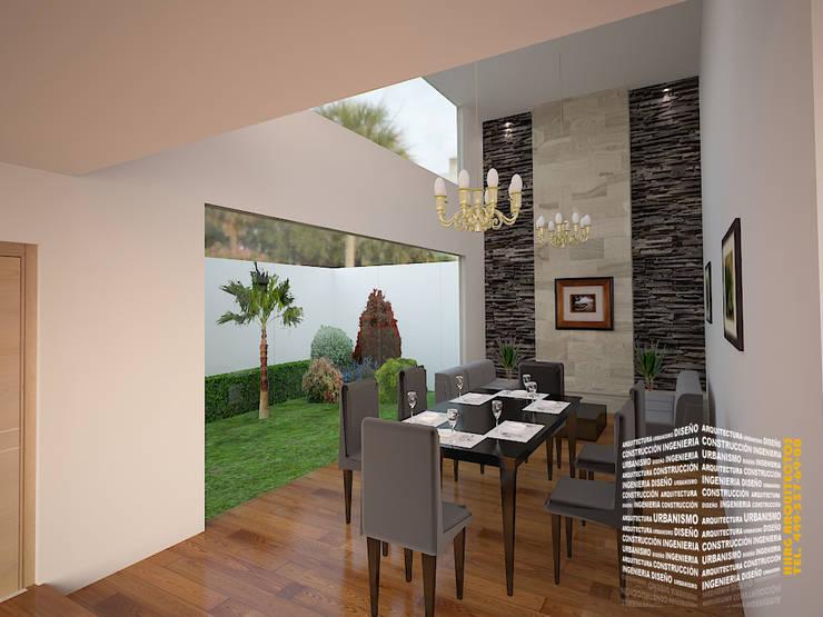 Sala comedor doble altura de hhrg arquitectos homify for Casa moderno kl