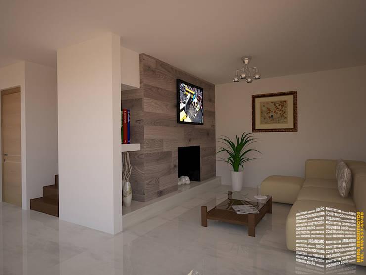 modern Media room by HHRG ARQUITECTOS