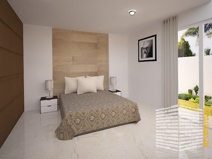 Bedroom by HHRG ARQUITECTOS, Minimalist