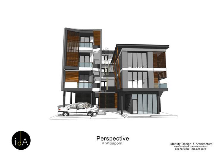 บ้าน คุณ วิภาภรณ์:  บ้านเดี่ยว by Identity Design & Architecture Part.,Ltd