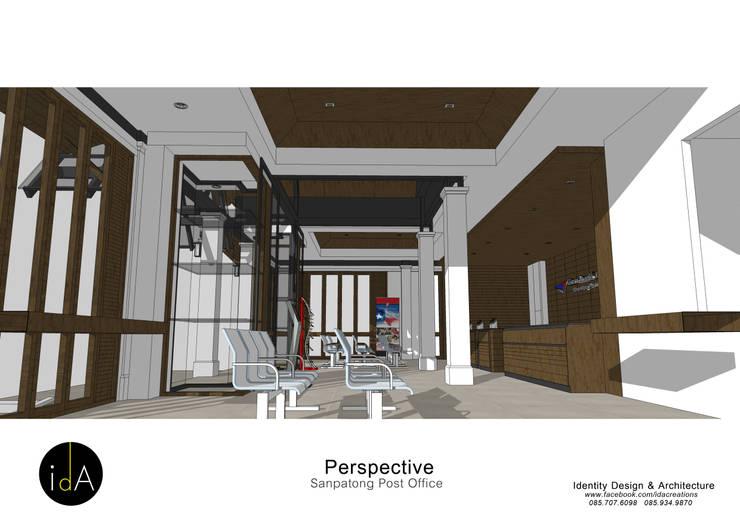 ปรับปรุงอาคารสำนักงาน ไปรษณีย์ อ.สันป่าตอง จ.เชียงใหม่:  อาคารสำนักงาน by Identity Design & Architecture Part.,Ltd