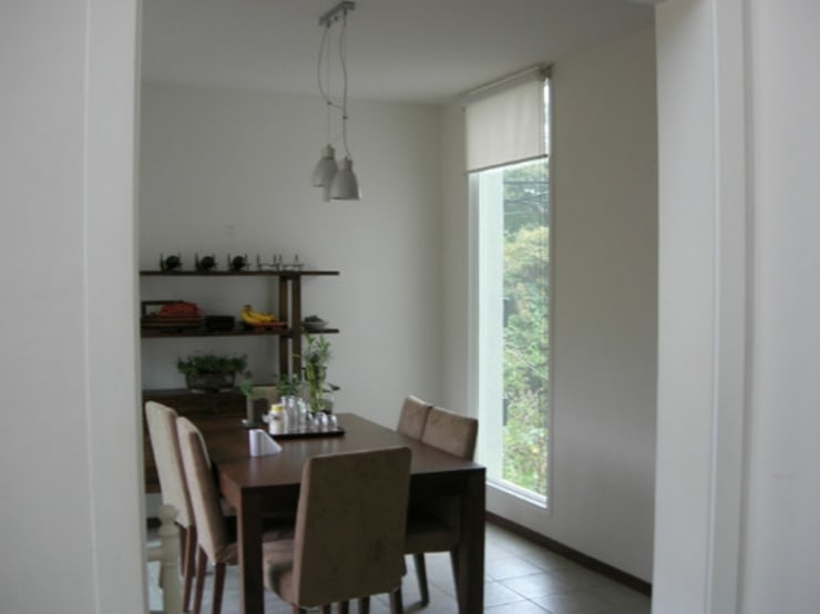 전원 주택 시공: (주)현대디자인건축의  다이닝 룸,컨트리