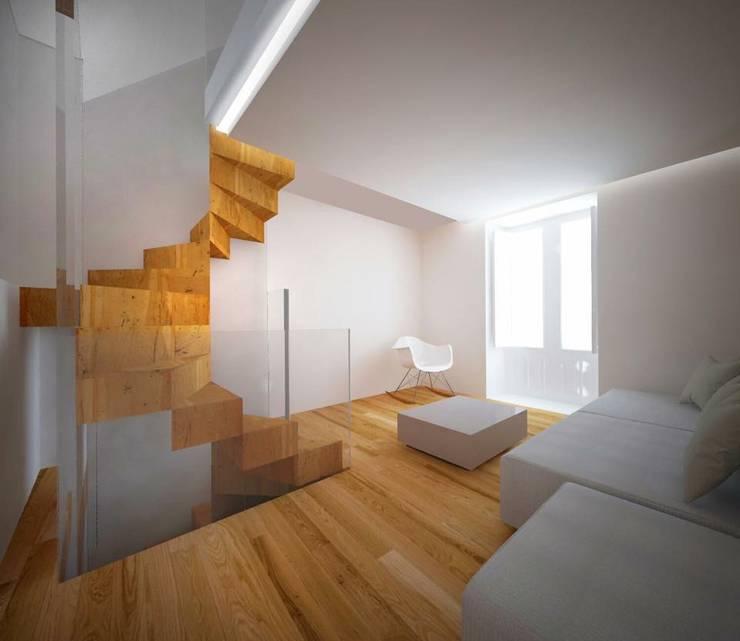 Corridor & hallway by Studio di architettura Polisano