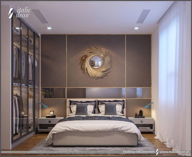 CĂN HỘ PARAGON TOWER:  Phòng ngủ by ITALIC DECOR
