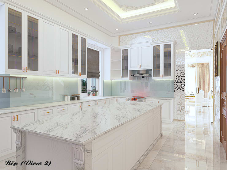 Biệt thự Trưng Nữ Vương – Đà Nẵng:  Nhà bếp by Công ty Kiến trúc Á Âu