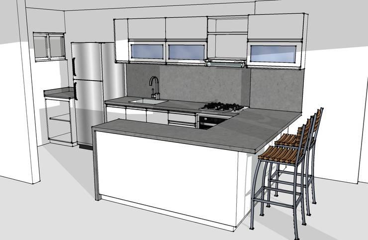 Cocina integral : Cocinas de estilo  por Remodelar Proyectos Integrales