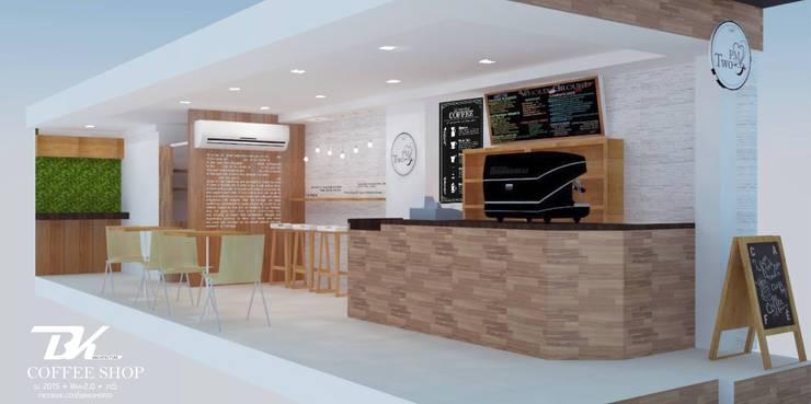 ร้านกาแฟ:  ตกแต่งภายใน by BK Archstudio
