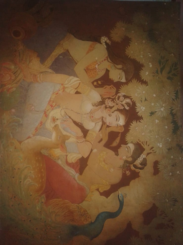 The wedding:  Artwork by Indian Art Ideas