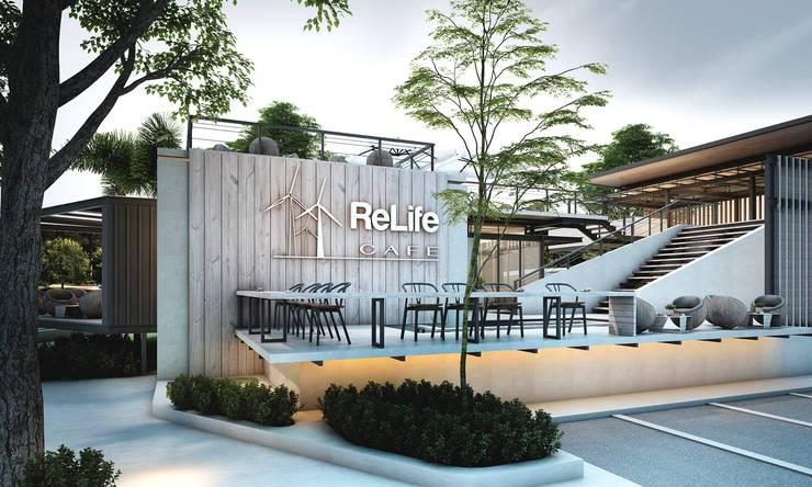Relife Cafe:   by บริษัทไอแแอม ออม อาร์คิเทค จำกัด