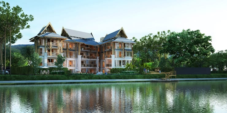 Baan Chiangmai Riverside:   by Numtonarchitects