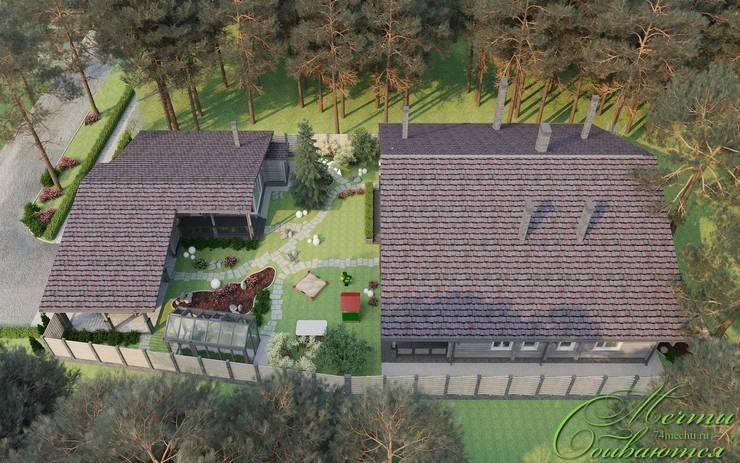 Загородный дом в стиле шале: Дома в . Автор – Компания архитекторов Латышевых 'Мечты сбываются'