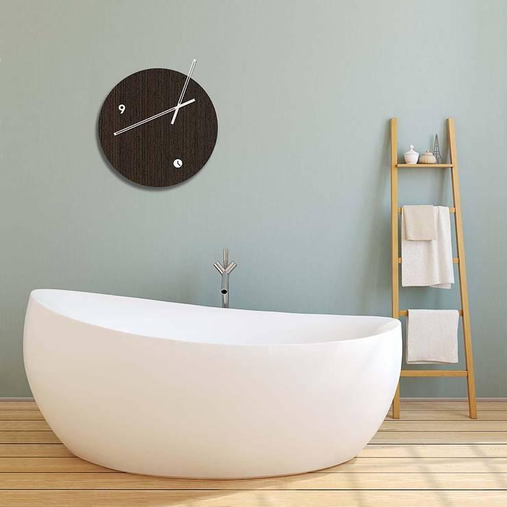 Tothora Globus 35 Wenge Wall Clock:  Bathroom by Just For Clocks