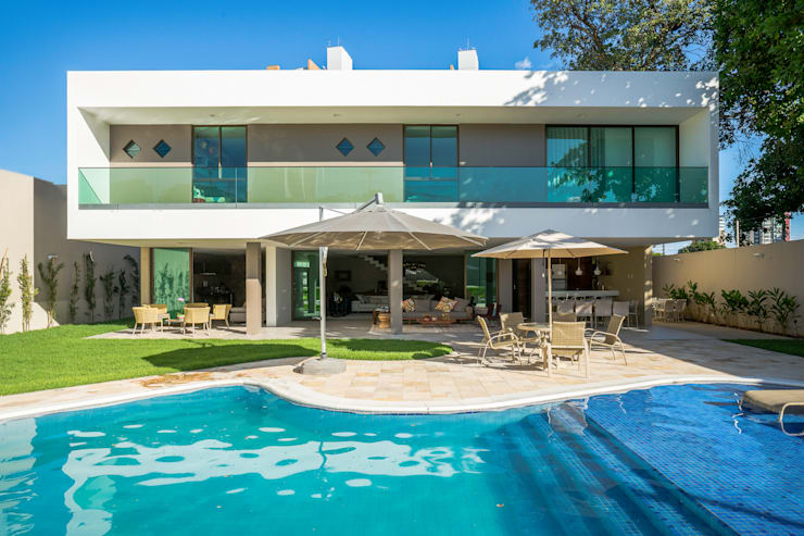 Projekty,  Domy zaprojektowane przez Julice Pontual Arquitetura