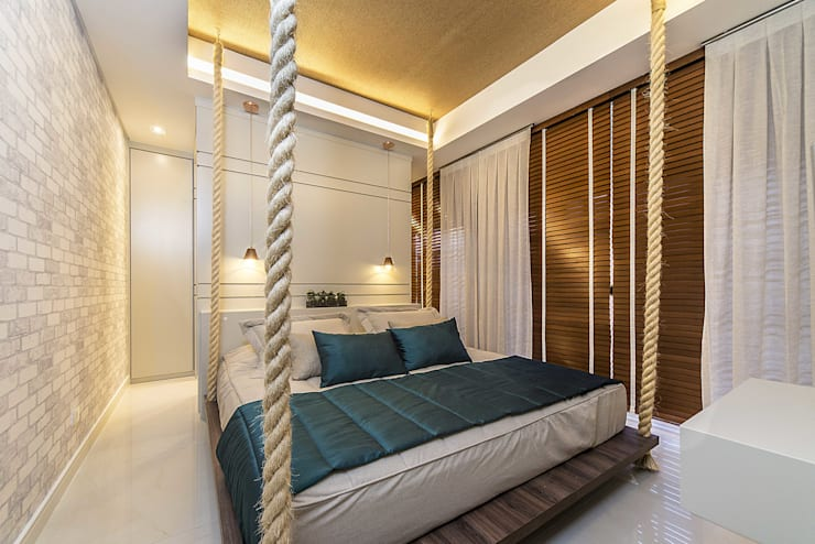 Projekty,  Sypialnia zaprojektowane przez Fernanda Patrão Design