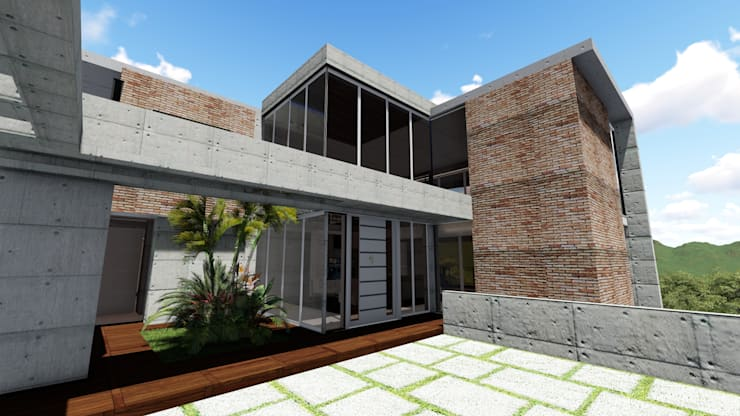 Casa Villa Nueva, El Hatillo. Caracas: Jardines de estilo  por Arquitectura Creativa