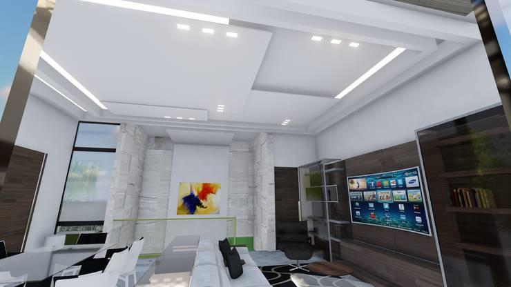Pent House Virginia Loft, Maracaibo. Estado Zulia: Salas de entretenimiento de estilo  por Arquitectura Creativa