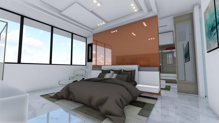 Pent House Virginia Loft, Maracaibo. Estado Zulia: Cuartos de estilo  por Arquitectura Creativa