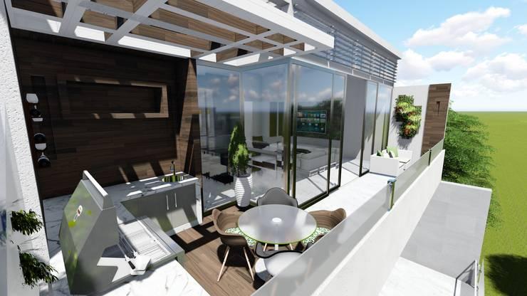Pent House Virginia Loft, Maracaibo. Estado Zulia: Terrazas de estilo  por Arquitectura Creativa