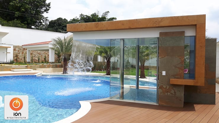PISCINA CASA LA ENCANTADA: Spa de estilo  por ION arquitectura SAS, Minimalista