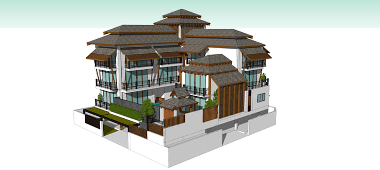 โครงการบ้าน 5 ชั้น  คุณ นราภรณ์:  บ้านและที่อยู่อาศัย by Identity Design & Architecture Part.,Ltd