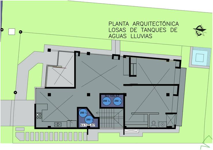Vivienda Campestre Sostenible 1 – 2016:  de estilo  por PILO Arquitectura