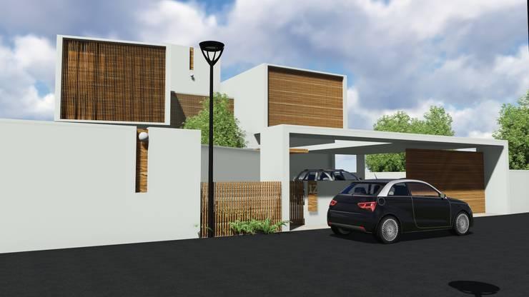 NOBLE RESIDENCE:  Carport by GREENcanopy innovations,Minimalist