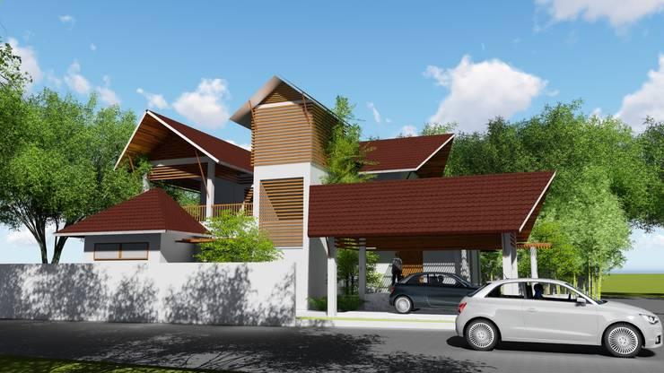 ANIL KUMAR RESIDENCE:  Prefabricated Garage by GREENcanopy innovations,Tropical