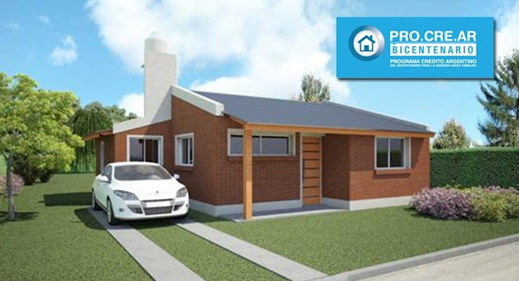 Casa a Construir Ideal Procrear: Casas de estilo  por Arq. Gustavo Piazza & Asociados,