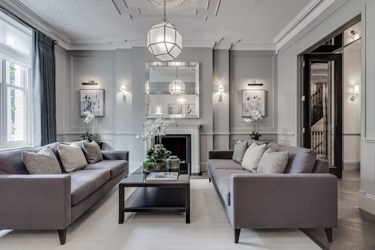 Salas de estilo moderno por London Home Staging Ltd