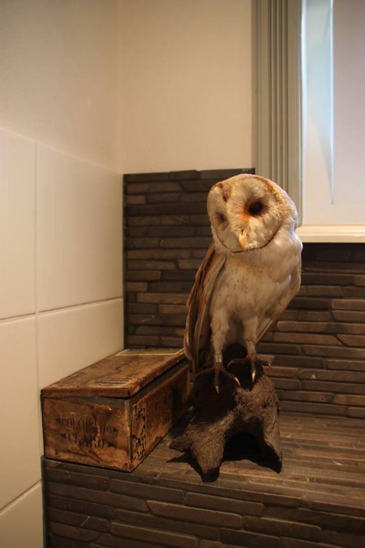 Ontwerp badkamer en toilet:  Badkamer door janny doornbos architektonische vormgeving, Landelijk