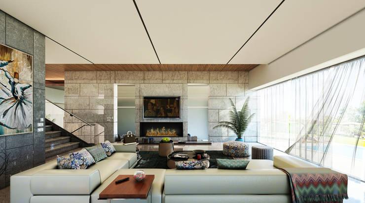 غرفة المعيشة تنفيذ GOWS architects
