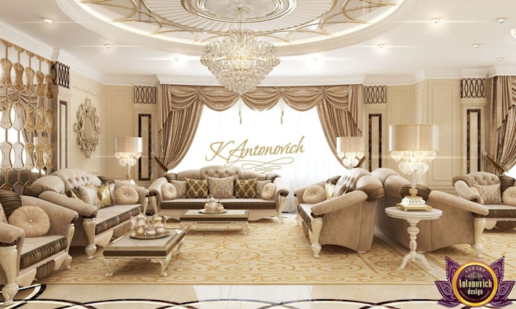 The most beautiful interiors from Katrina Antonovich:  Living room by Luxury Antonovich Design