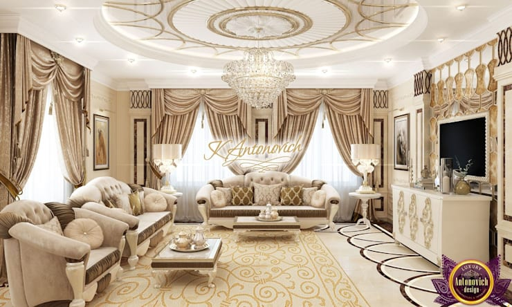The most beautiful interiors from Katrina Antonovich:  Living room by Luxury Antonovich Design