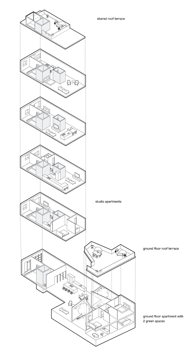 Indeling: modern  door Kevin Veenhuizen Architects, Modern