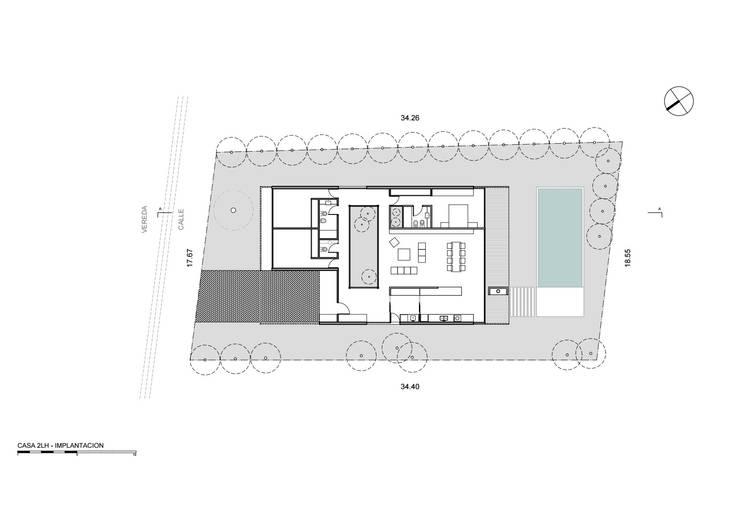 Implantación: Casas de estilo  por Luciano Kruk arquitectos
