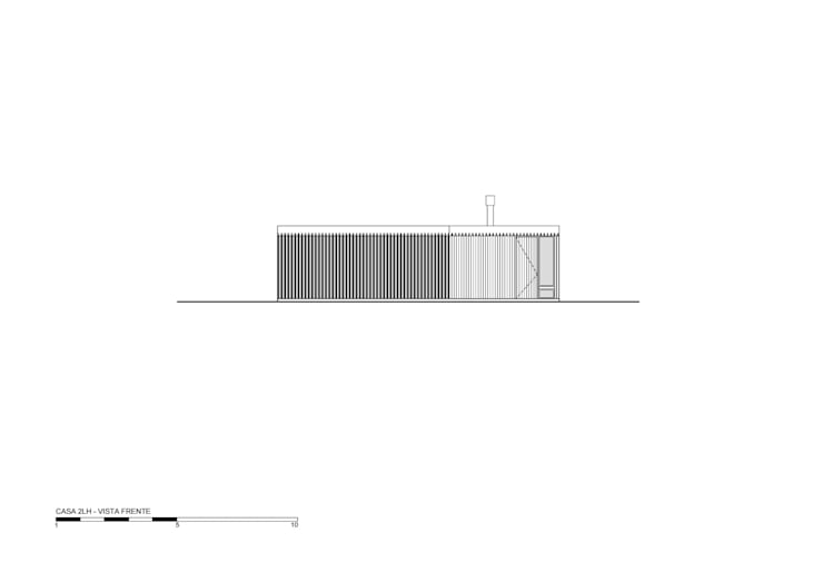 Vista frente: Casas de estilo  por Luciano Kruk arquitectos
