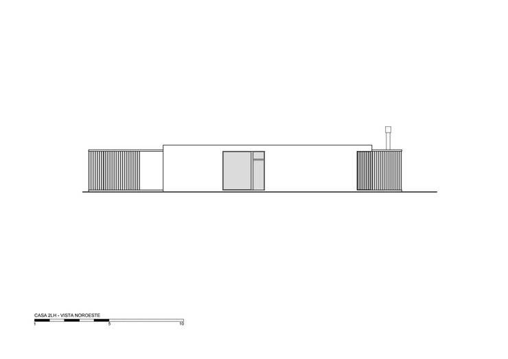 VIsta NO: Casas de estilo  por Luciano Kruk arquitectos